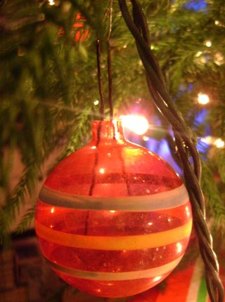 Ornament with stripes
