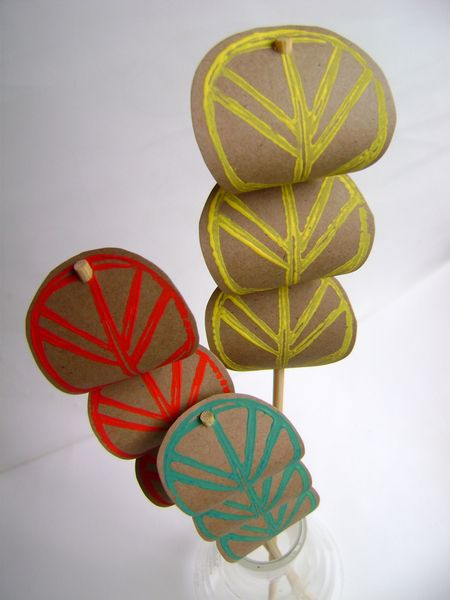 Leaf stamp skewers